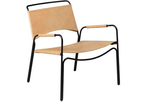 DAN-FORM Paz fauteuil bruin leer