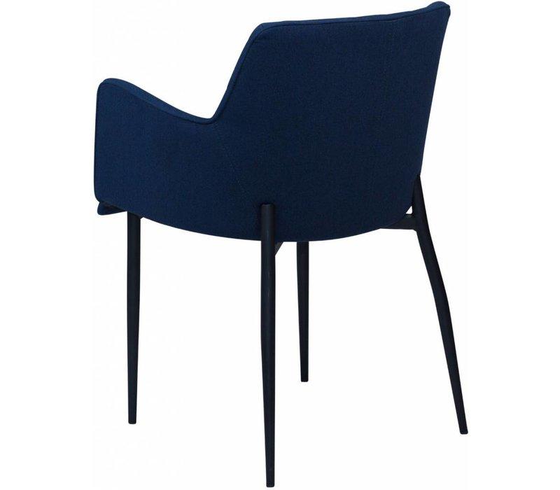 Rombo stoel blauw stof