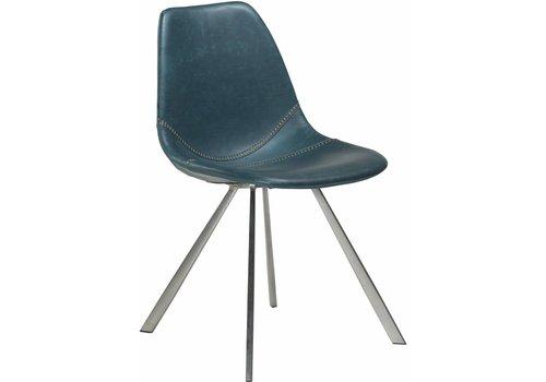 DAN-FORM Pitch stoel blauw / RVS