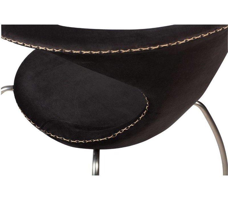 Flair stoel zwart fluweel