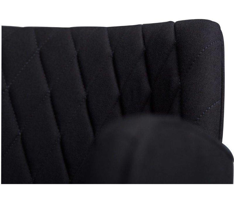 Rombo stoel zwart stof