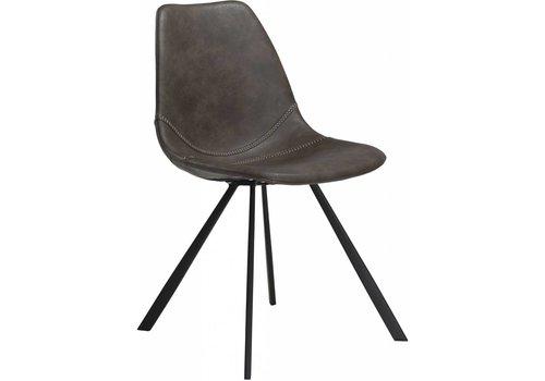 DAN-FORM Pitch stoel vintage grijs / zwart