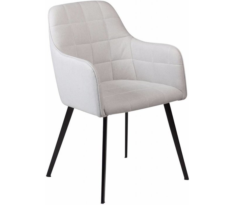 Embrace stoel grijs stof