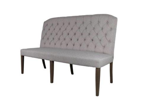 HSM Collection Eettafelbank - 160 cm - crème - linnen