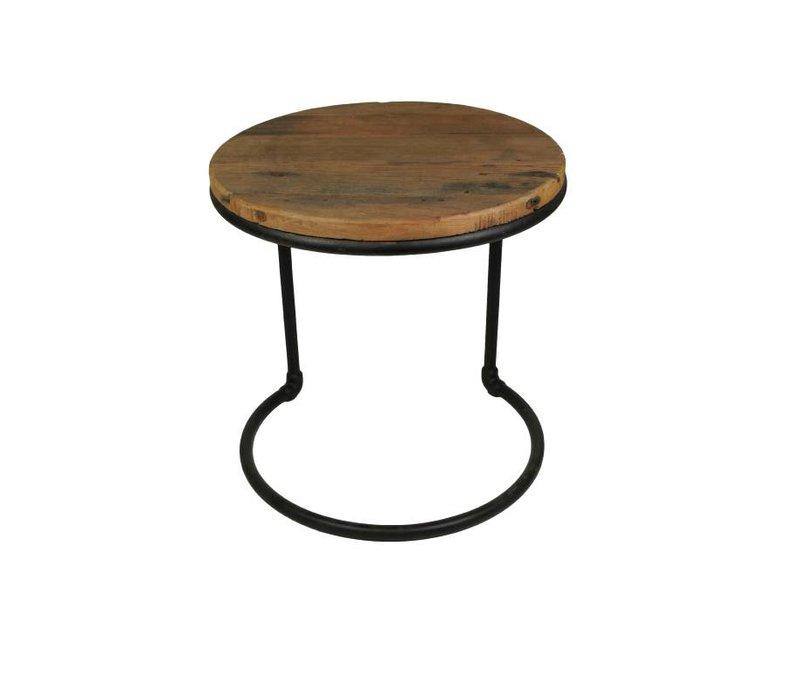 Bijzettafel - wood/metal - metaal/teak