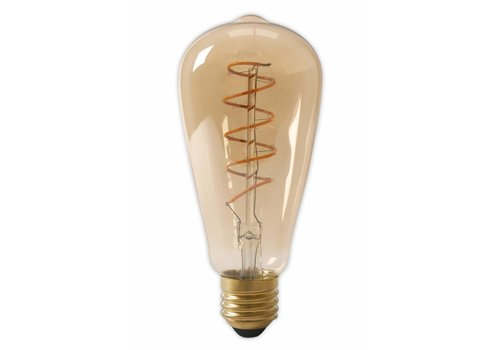 LED lamp Curved goud ST64 Squirrel Cage E27