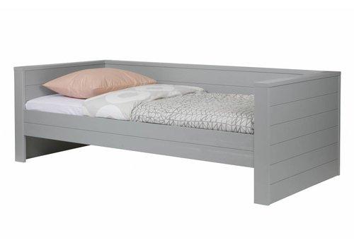 Woood Dennis bedbank betongrijs (excl lade)