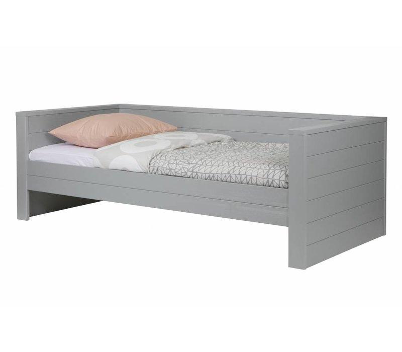 Dennis bedbank betongrijs (excl lade)