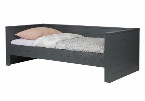 Woood Dennis bedbank steel grey (excl lade)