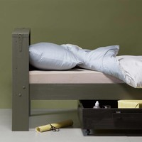 Derk bed+bedlade 90x200 cm grenen forrest-charcoal