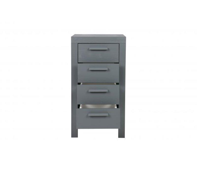 Dennis 4-ladekast steel grey