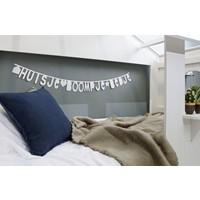 Huisie bedstee wit, excl bedladen