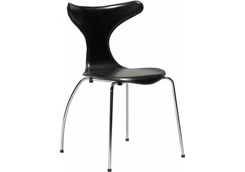 DAN-FORM Dolphin stoel zwart / chroom