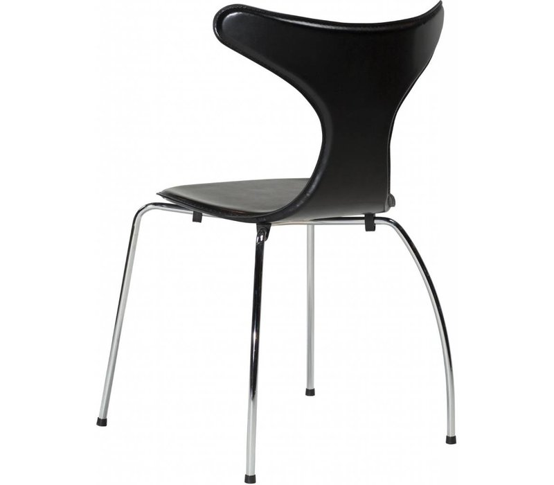 Dolphin stoel zwart / chroom