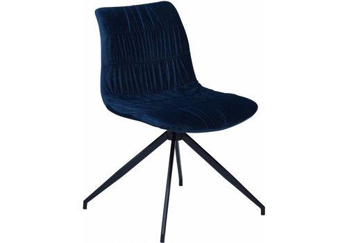 DAN-FORM Dazz stoel blauw fluweel