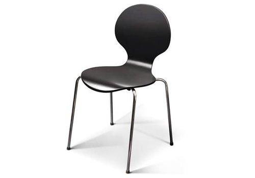 DAN-FORM Jackpot stoel zwart gelakt