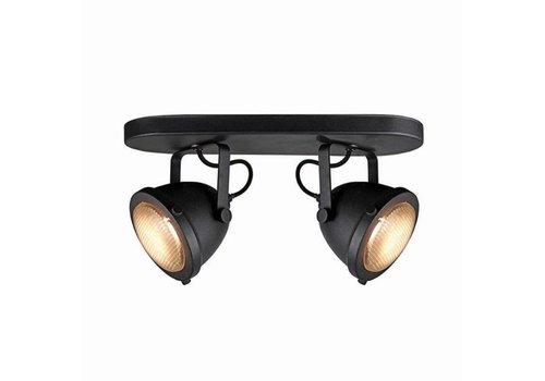 LABEL51 LED Spot Moto 2-Lichts Zwart Metaal
