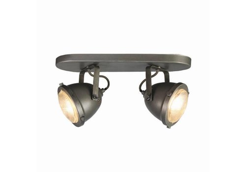 LABEL51 LED Spot Moto 2-Lichts Burned Steel