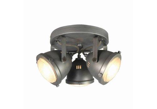 LABEL51 LED Spot Moto 3-Lichts Burned Steel