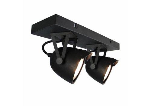 LABEL51 LED Spot Cap 2-lichts Zwart Metaal
