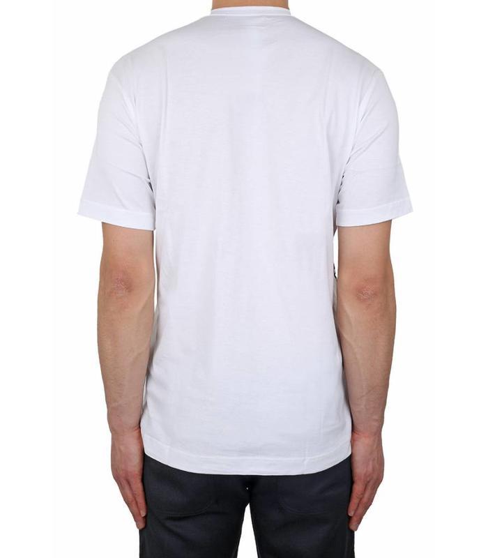 COMME DES GARCONS SHIRT BOYS WHITE JERSEY TRAIN T-SHIRT