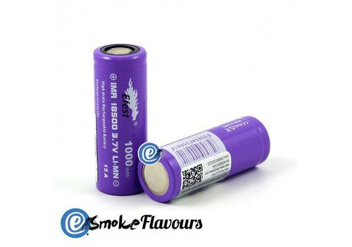 eFest 18500 IMR Purple 1000mAh 15A Flattop