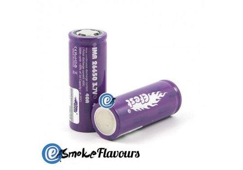 eFest IMR Purple 26650 35A 4200mAh Flattop Batterij