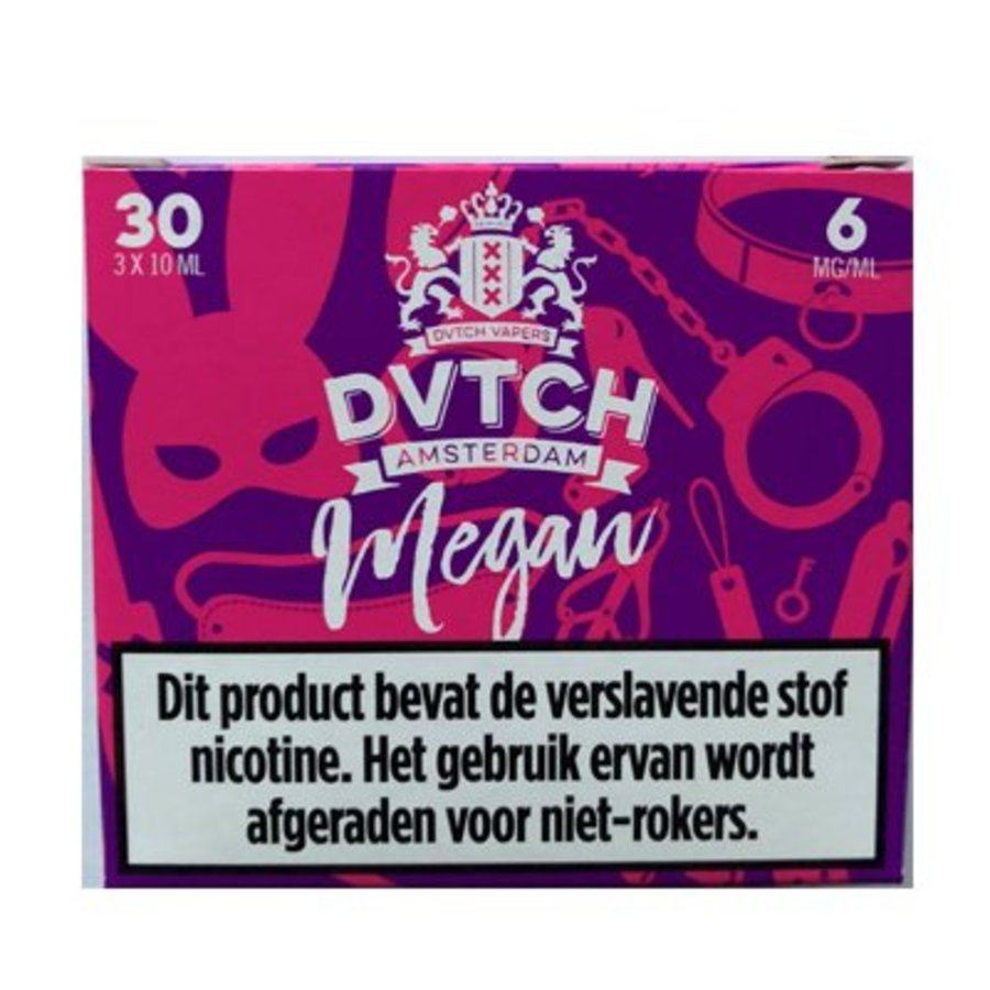 DVTCH Amsterdam E-liquid Megan (3x10ml)