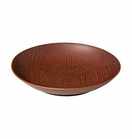 Q Authenic Porselein Diep bord 25,5cm Q Authentic Croco 616764