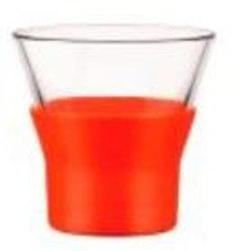 Bormioli Rocco Cappuccino glas kleur oranje Bormiolli Rocco Ypsilon 22cl doos 6 stuks