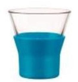 Bormioli Rocco Cappuccino glas kleur blauw Bormiolli Rocco Ypsilon 22cl doos 6 stuks