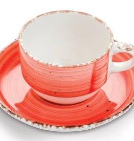 Güral Porselen Kop en schotel rood Gural Ent 170ml 617337
