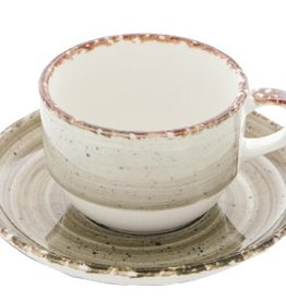 Güral Porselen Kop en schotel terra Gural Ent 170ml 617347
