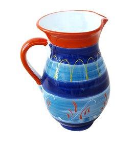 Karaf aardewerk Alicante Blauw/Oranje 1L 529580