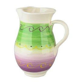 Karaf aardewerk 1L groen-paars 526085