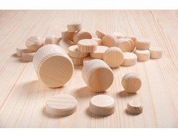 Houten schijfjes Grenenhout schijven - 50 st./pak, Ø 50 mm