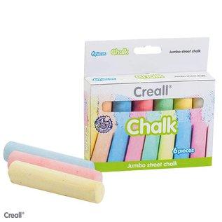 Creall CREALL-CHALK 6 stuks ass.