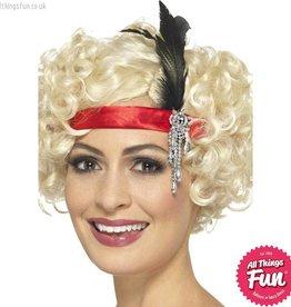 Smiffys Red Satin Charleston Headband