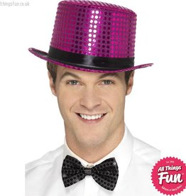 Smiffys Pink Sequin Top Hat