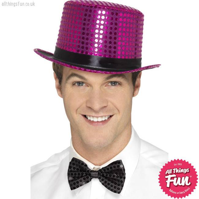 Smiffys Pink Sequin Top Hat