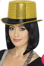 Smiffys Gold Sequin Top Hat