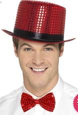 Smiffys Red Sequin Top Hat
