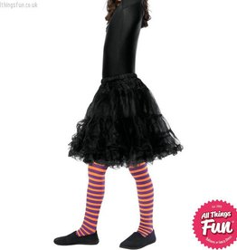Smiffys Childs Orange & Purple Striped Wicked Witch Tights