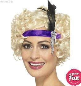 Smiffys Purple Satin Charleston Headband