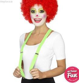 Smiffys Green Clown Braces