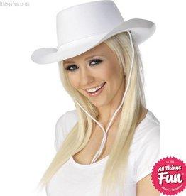 Smiffys White Flocked Cowboy Hat