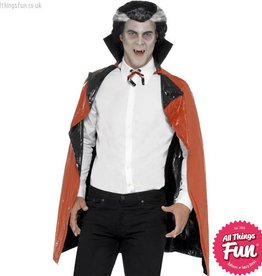 Smiffys Black & Red PVC Reversible Vampire Cape