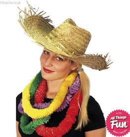 Smiffys Beachcomber Hawaiian Straw Hat