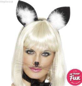 Smiffys Black Cat Ears on Headband