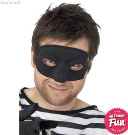 Smiffys Black Burglar Eyemask